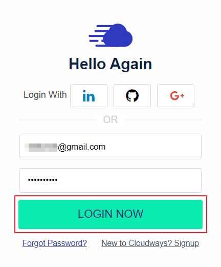 填寫資訊後登入