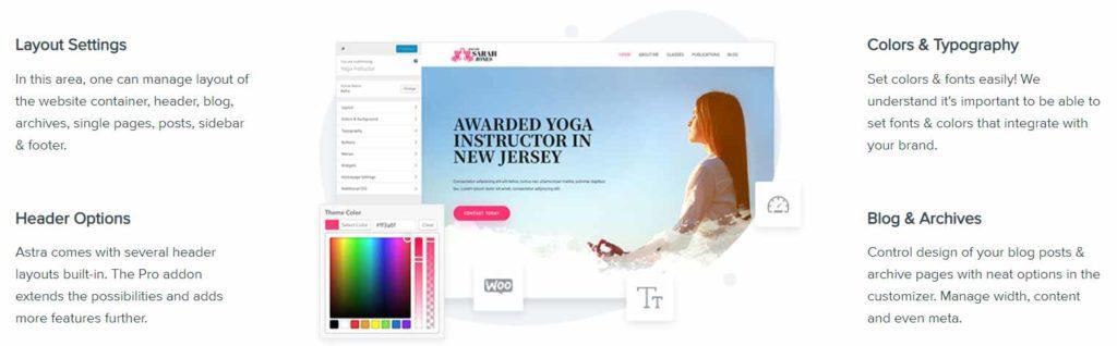 Astra 網站設定:版型、顏色、字型、文字大小